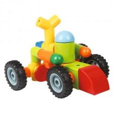 Детский Магнитный конструктор с погремушками на колесах 8215-3